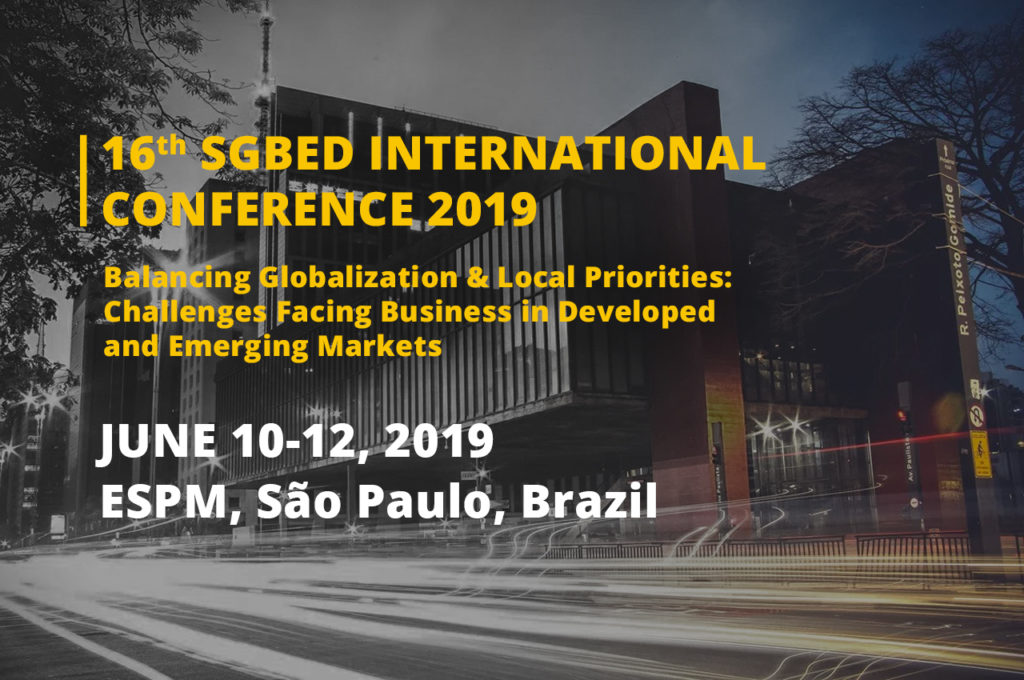 The 16th SGBED International Conference - SGBED